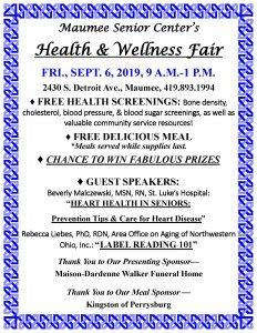 Health & Fair Sept2019 - Maumee Senior Center