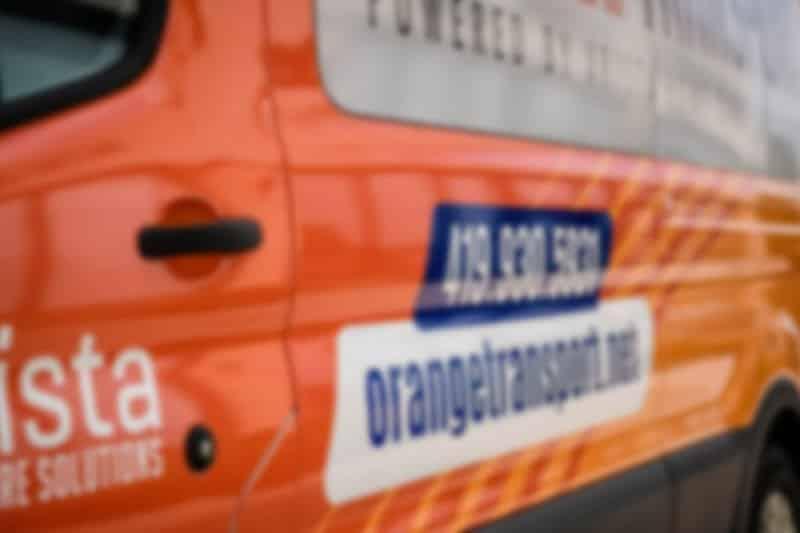 Arista Orange Transport van